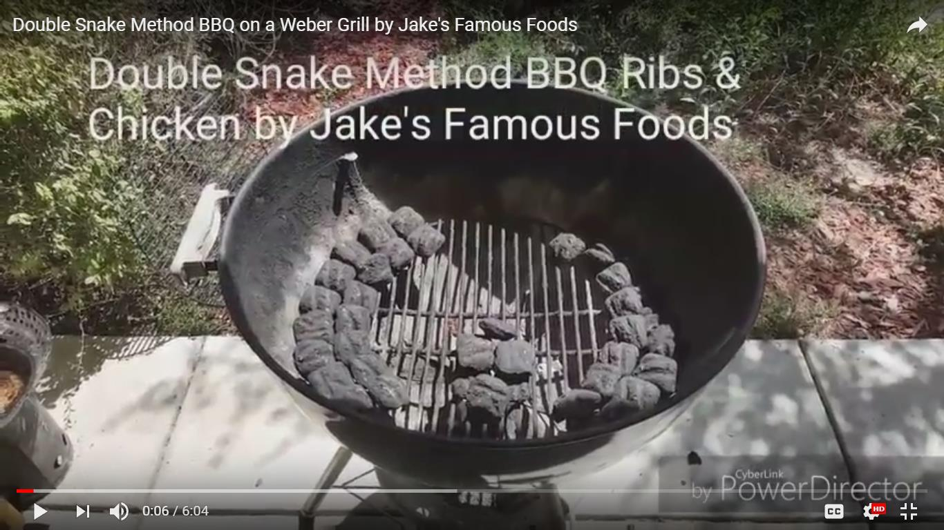 Double Snake Method Barbecue
