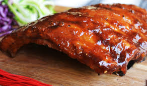Oven Baked BBQ Ribs with Roasted Strawberry BBQ Sauce