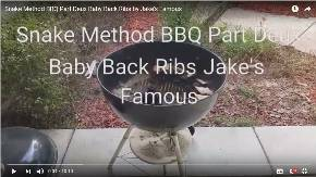 Snake Method BBQ Ribs, Baby Back Ribs